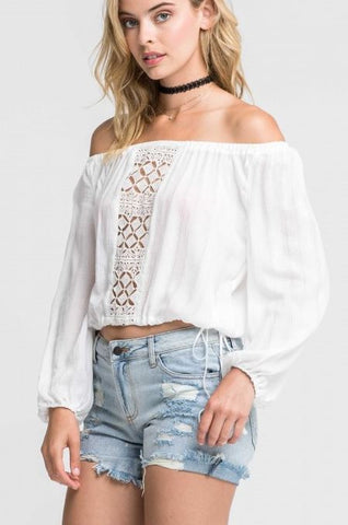 OFF-SHOULDER TOP CROCHET