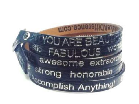 You Are Beautiful Wrap Around Bracelet