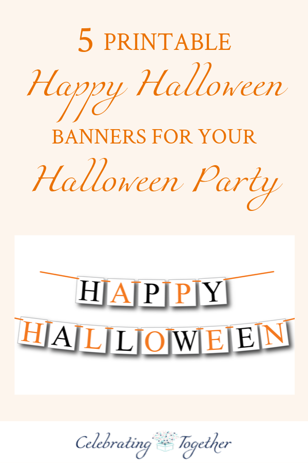 5 Printable Happy Halloween Banners For Your Halloween Party