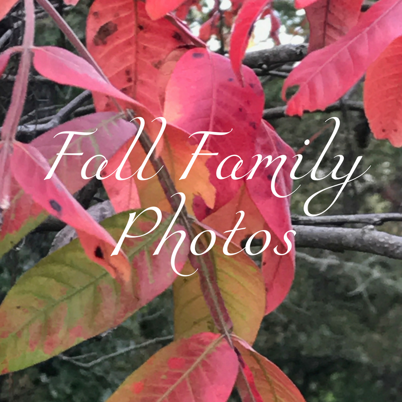 Fall Themed Family Photos