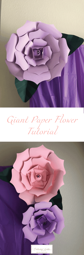 Assemble Flower Petals For Giant Paper Flowers For Your Wedding Or Baby Shower