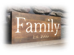 Personalized Engraved Wood Signs