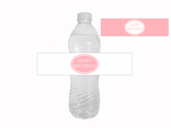 Printable Birthday Party Water Bottle Labels