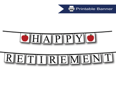Printable Retirement Banners