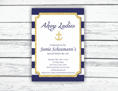 Printable Bridal Shower Invitations / Bachelorette Party Invitations