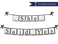 Printable Bridal Shower Banners