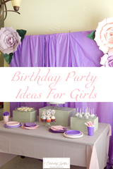 Birthday Party Ideas for Girls - Butterflies and Giant Paper Flowers - Celebrating Together