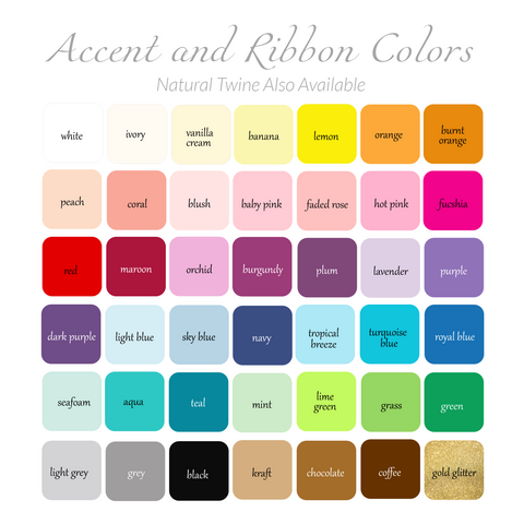 Heart/Accent and Ribbon Color Options
