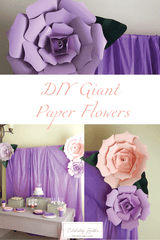 DIY Giant Paper Flowers for Girls Birthday Party - Celebrating Together