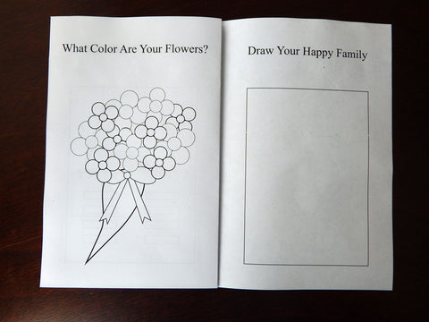 bouquet of flowers coloring page - Celebrating Together