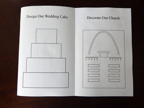 Wedding cake and church coloring pages - Celebrating Together