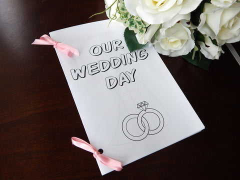 Printable Our Wedding Day Coloring Book For Kids