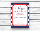 Printable ahoy it's a boy baby shower invitation - Celebrating Together
