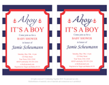 DIY nautical baby shower invites - Celebrating Together