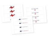 printable airplane water bottle labels for baby shower - Celebrating Together