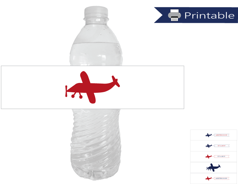 DIY airplane water bottle labels - Celebrating Together