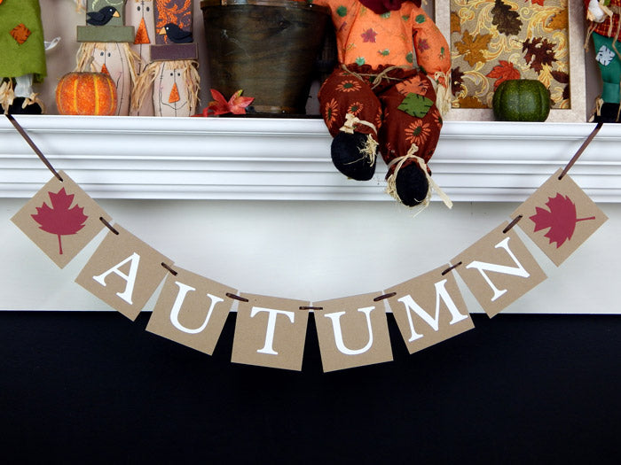 autumn banner with dark red leaves - Celebrating Together