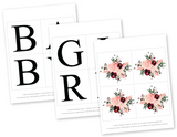 diy floral baby girl banner template - Celebrating Together