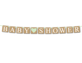 Rustic baby shower banner - Celebrating Together