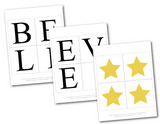 gold stars for printable believe banner - Celebrating Together