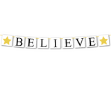 printable believe Christmas banner - Celebrating Together