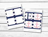 Printable pages for nautical bride to be banner - Celebrating Together