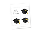 printable graduation caps for diy graduation banner - Celebrating Together