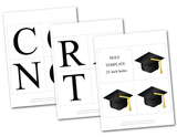 DIY graduation cap decoration - printable graduation 2020 banner - Celebrating Together