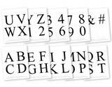 printable alphabet for diy party banner - Celebrating Together