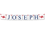custom child's name banner - airplane party decoration - Celebrating Together