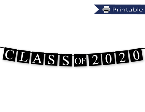 Printable Class of 2020 Banner