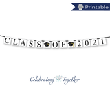 printable class of 2021 banner - graduation party decor - Celebrating Together