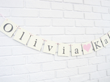 Custom Baby Name Banner - Personalized Baby Shower Decoration - Celebrating Together
