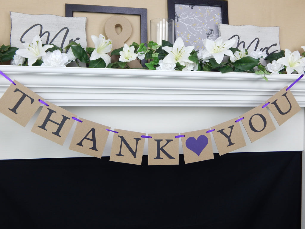 Rustic Thank You Banner - Celebrating Together