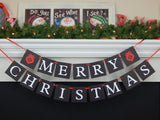 Ornament Chalkboard Merry Christmas Banner