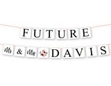diy future mr and mrs personalized name banner for couples engagement party - Celebrating Together