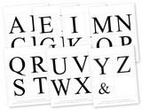 printable alphabet for diy mr and mrs custom name engagement party banner - Celebrating Together