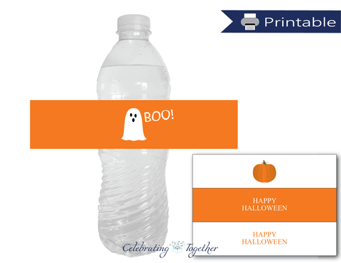 Printable ghost water bottle labels - Celebrating Together