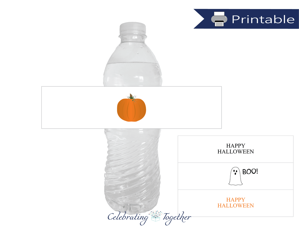 printable halloween water bottle labels - Celebrating Together