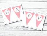 Printable pages for girls happy birthday banner - Celebrating Together