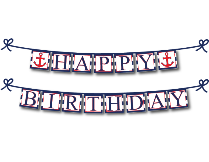 diy nautical happy birthday sign - Celebrating Together