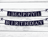 DIY nautical happy birthday banner - Celebrating Together