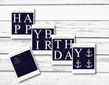 printable pages for DIY happy birthday banner - Celebrating Together