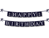 printable nautical happy birthday banner - Celebrating Together