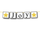 printable joy banner - DIY Christmas decor - Celebrating Together