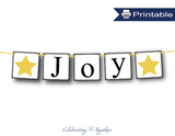 DIY joy banner - star Christmas decor - Celebrating Together