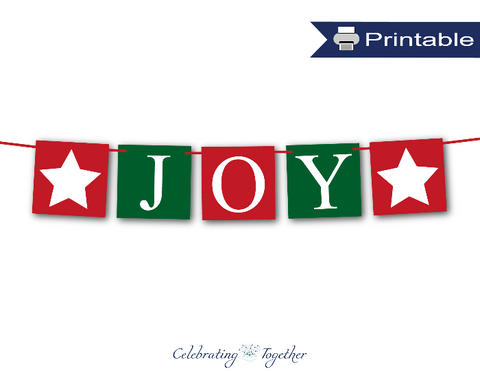 Festive printable joy banner - Celebrating Together