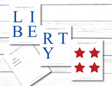 Printable 4th of july banner - liberty banner - Celebrating Together