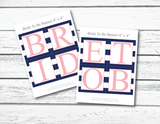Printable page for bride to be banner, letters BRIDETOB - Celebrating Together