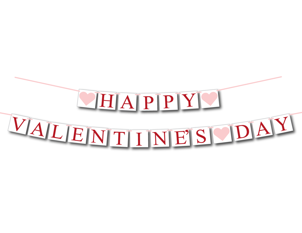 red and pink happy valentines day banner - Celebrating Together